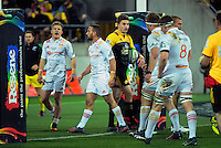 Beauden Barrett walks back to convert his try during the Super Rugby semifinal match between the Hurricanes and Chiefs at Westpac Stadium, Wellington, New Zealand on Saturday, 30 July 2016. Photo: Dave Lintott / lintottphoto.co.nz