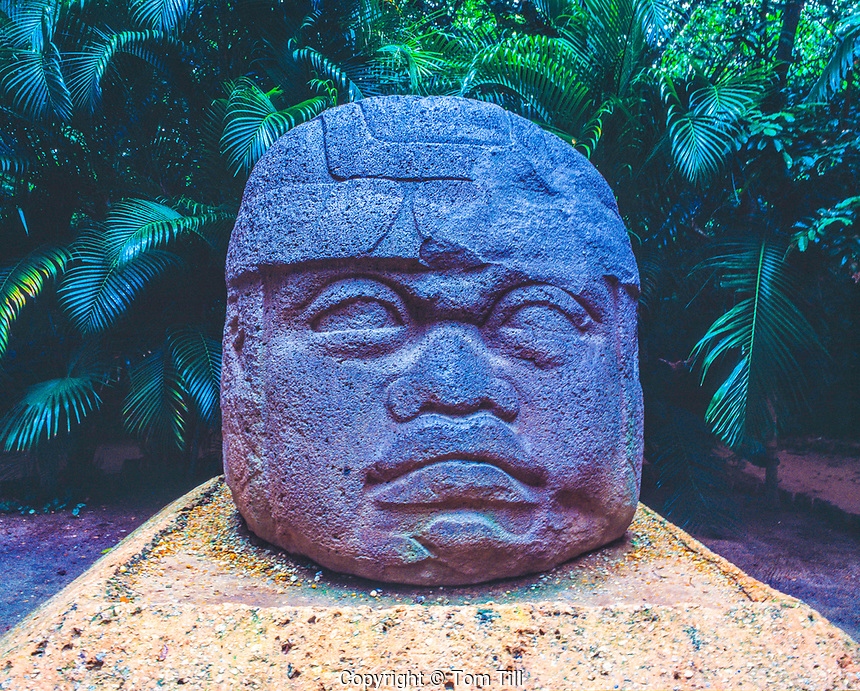 Giant Olmec Statue, Tabasco State, Mexico   Ancient culture of Eastern Mexico