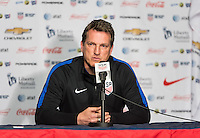 FRISCO, TX - March 28, 2016: Press Conference for the US U-23 Men's National team vs Columbia at Toyota Stadium.