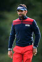 Lee Slattery of England looks on during Round 4 of the 2015 British Masters at the Marquess Course, Woburn, in Bedfordshire, England on 11/10/15.<br /> Picture: Richard Martin-Roberts | Golffile