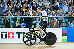 Cameron Meyer of Australia celebrates after winning the Men's Points Race Final during the 2017 UCI Track Cycling World Championships on 14 April 2017, in Hong Kong Velodrome, Hong Kong, China. Photo by Marcio Rodrigo Machado / Power Sport Images