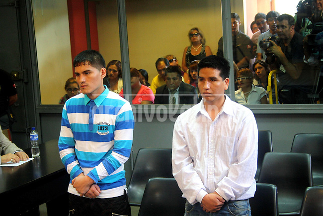 Bryan Romero Leyva and his uncle Redy Leyva Cerron get the sentence to life time in prission for the killing of Ruth Thalia Sayas, winner of the reality TV show the Value of the Truth