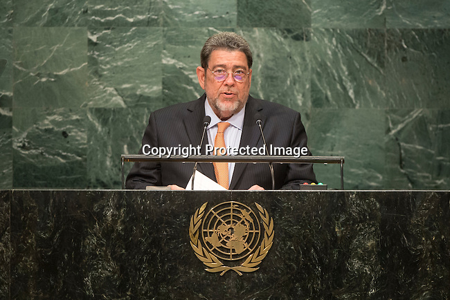 Saint Vincent and the Grenadines<br /> H.E. Mr. Ralph Gonsalves<br /> Prime Minister<br /> <br /> General Assembly Seventy-first session, 17th plenary meeting<br /> General Debate