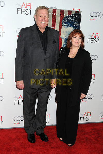 "Ken Howard & Linda Fetters.AFI Fest 2011 Opening Night Gala Premiere of ""J. Edgar"" held at Grauman's Chinese Theatre, Hollywood, California, USA..November 3rd, 2011.full length suit married husband wife black grey gray .CAP/ADM/BP.©Byron Purvis/AdMedia/Capital Pictures."