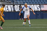 Seattle, WA - Thursday July 27, 2017: Allie Long during a 2017 Tournament of Nations match between the women's national teams of the United States (USA) and Australia (AUS) at CenturyLink Field.