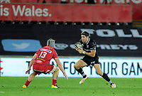Ospreys' James Hook in action during todays match<br /> <br /> Photographer Ashley Crowden/CameraSport<br /> <br /> Guinness Pro14 Round 6 - Ospreys v Scarlets - Saturday 7th October 2017 - Liberty Stadium - Swansea<br /> <br /> World Copyright &copy; 2017 CameraSport. All rights reserved. 43 Linden Ave. Countesthorpe. Leicester. England. LE8 5PG - Tel: +44 (0) 116 277 4147 - admin@camerasport.com - www.camerasport.com