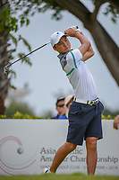 Min Woo LEE (AUS) watches his tee shot on 12 during Rd 4 of the Asia-Pacific Amateur Championship, Sentosa Golf Club, Singapore. 10/7/2018.<br /> Picture: Golffile | Ken Murray<br /> <br /> <br /> All photo usage must carry mandatory copyright credit (© Golffile | Ken Murray)