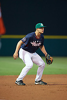 Daytona Tortugas third baseman Nick Senzel (17) in the field during the Florida State League All-Star Game on June 17, 2017 at Joker Marchant Stadium in Lakeland, Florida.  FSL North All-Stars  defeated the FSL South All-Stars  5-2.  (Mike Janes/Four Seam Images)