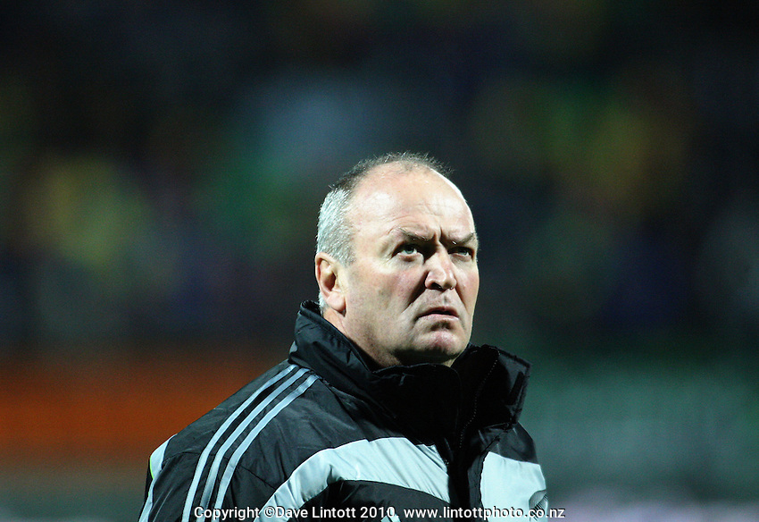 All Blacks coach Graham Henry during the Steinlager Series international test match between the All Blacks and Ireland at Yarrows Stadium, New Plymouth, New Zealand on Saturday 12 June 2010. Photo: Dave Lintott / lintottphoto.co.nz