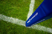 A general view of a Heineken Champions Cup branded corner flag. Heineken Champions Cup match, between Bath Rugby and Stade Toulousain on October 13, 2018 at the Recreation Ground in Bath, England. Photo by: Patrick Khachfe / Onside Images