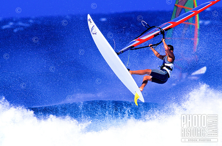 Windsurfers at Hookipa beach on Maui