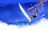 Windsurfers at Hookipa beach on Maui