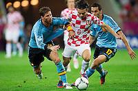 GDANSK, POLONIA, 18 JUNHO 2012 - EURO 2012 - ESPANHA X CROACIA - Danijel Pranjic  jogador da Croacia durante lance partida contra a Espanha pela terceira rodada do Grupo C da Euro 2012 em Gdansk na Polonia , nesta segunda-feira , 18. (FOTO: PIXATHLON / BRAZIL PHOTO PRESS).