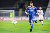 28th September 2017, Partizan Stadium, Belgrade, Serbia; UEFA Europa League group stage, Partizan versus Dynamo Kiev; Defender Josip Pivaric of Dynamo Kiev runs for the long ball