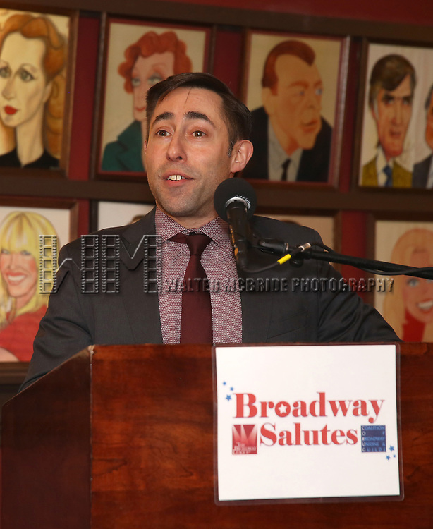 Hal Goldberg attends Broadway Salutes 10 Years - 2009-2018 at Sardi's on November 13, 2018 in New York City.