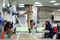 WINSTON-SALEM, NC - FEBRUARY 08: Robbie Grace of Wake Forest University competes in the Women's Triple Jump at JDL Fast Track on February 08, 2020 in Winston-Salem, North Carolina.