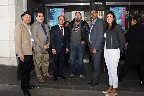 Juan Espinal, Rene Fortunato, Briunny Garabito, Ruben Jimenez y Camila Moya en el Cinema Imperial de Montreal.