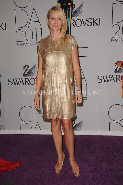 WWW.ACEPIXS.COM . . . . . .June 6, 2011...New York City.....Naomi Watts attends the 2011 CFDA Fashion Awards at Alice Tully Hall, Lincoln Center on June 6, 2011 in New York City......Please byline: KRISTIN CALLAHAN - ACEPIXS.COM.. . . . . . ..Ace Pictures, Inc: ..tel: (212) 243 8787 or (646) 769 0430..e-mail: info@acepixs.com..web: http://www.acepixs.com .