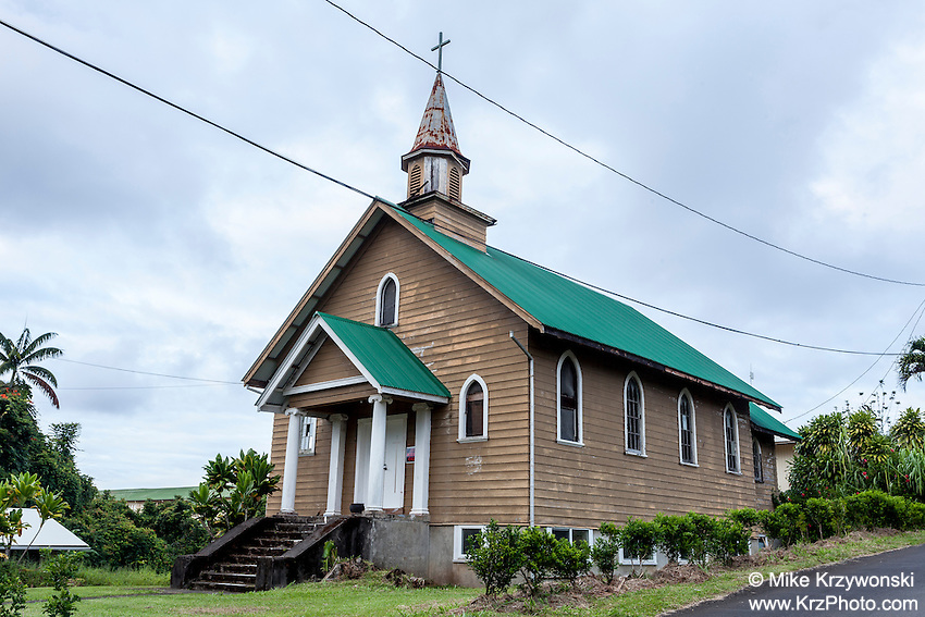 Old church in Papaikou, Big Island, Hawaii