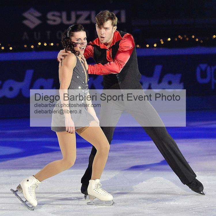 19 dicembre 2015, TURIN, ITALY - Si volge al Palavela di Torino il consueto Golden Skate Awards e Capodanno on Ice. Valentina Marchei Hondrej Hotarek