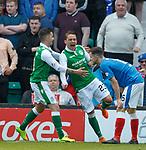 13.05.2018 Hibs v Rangers: Scott Allan celebrates his goal
