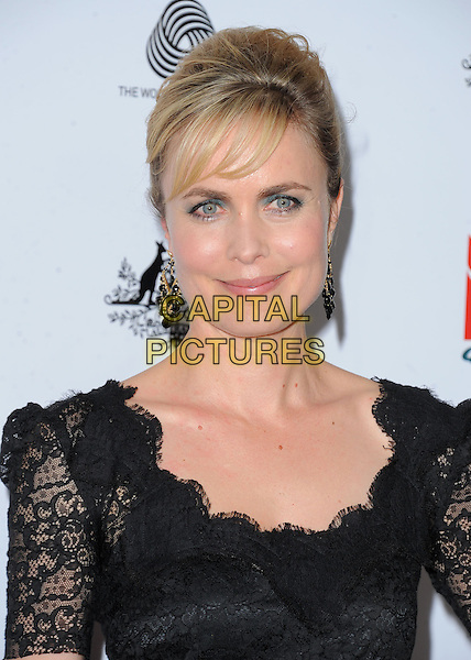 Radha Mitchell.at The G'Day USA Black Tie Gala held at The JW Marriot at LA Live in Los Angeles, California, January 12th 2013.                                                                 .portrait headshot black lace .CAP/DVS.©Debbie VanStory/Capital Pictures.