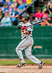 25 July 2017: Tri-City ValleyCats outfielder Corey Julks, an 8th round draft pick for the Houston Astros, in action against the Vermont Lake Monsters at Centennial Field in Burlington, Vermont. The Lake Monsters defeated the ValleyCats 11-3 in NY Penn League action. Mandatory Credit: Ed Wolfstein Photo *** RAW (NEF) Image File Available ***
