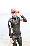 """Jack McCullough at the Clogherhead """"Round the Head Swim""""....(Photo credit should read Jenny Matthews/NEWSFILE)..."""