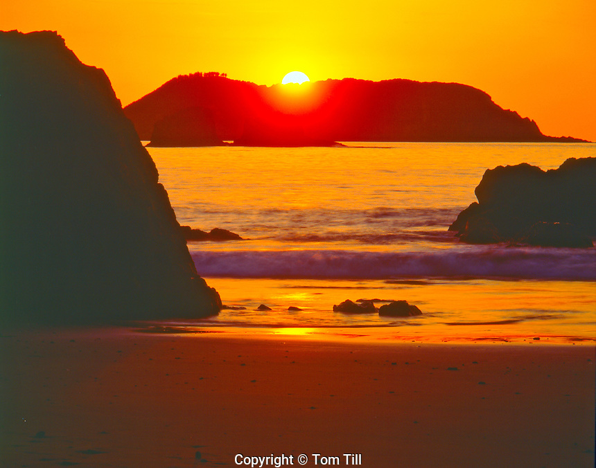 Sunset on Coastal Islands of Manuel Antonio National Park, Costa Rica