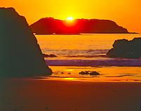 Sunset on Coastal Islands of Manuel Antonio National Park, Costa Rica
