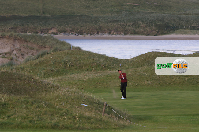 Peter Sheehan (Ballybunion) on the 15th during the Munster Final of the AIG Senior Cup at Tralee Golf Club, Tralee, Co Kerry. 12/08/2017<br /> Picture: Golffile | Thos Caffrey<br /> <br /> <br /> All photo usage must carry mandatory copyright credit     (&copy; Golffile | Thos Caffrey)