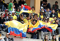 BOGOTA - COLOMBIA – 15 – 09 -2019: Fanáticos de Colombia, durante partido de la Copa Davis entre los equipos de Colombia y Croacia, partidos por el ascenso al Grupo Mundial de Copa Davis por BNP Paribas, en la Plaza de Toros La Santamaria en la ciudad de Bogota. / Fans of Colombia, during a Davis Cup match between the teams of Colombia and Croatia, match promoted to the World Group Davis Cup by BNP Paribas, at the La Santamaria Ring Bull in Bogota city. / Photo: VizzorImage / Luis Ramirez / Staff.