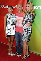 PASADENA, CA, USA - APRIL 08: Mel B (Melanie Brown), Howie Mandel and Heidi Klum arrive at the NBCUniversal Summer Press Day 2014 held at The Langham Huntington Hotel and Spa on April 8, 2014 in Pasadena, California, United States. (Photo by Xavier Collin/Celebrity Monitor)
