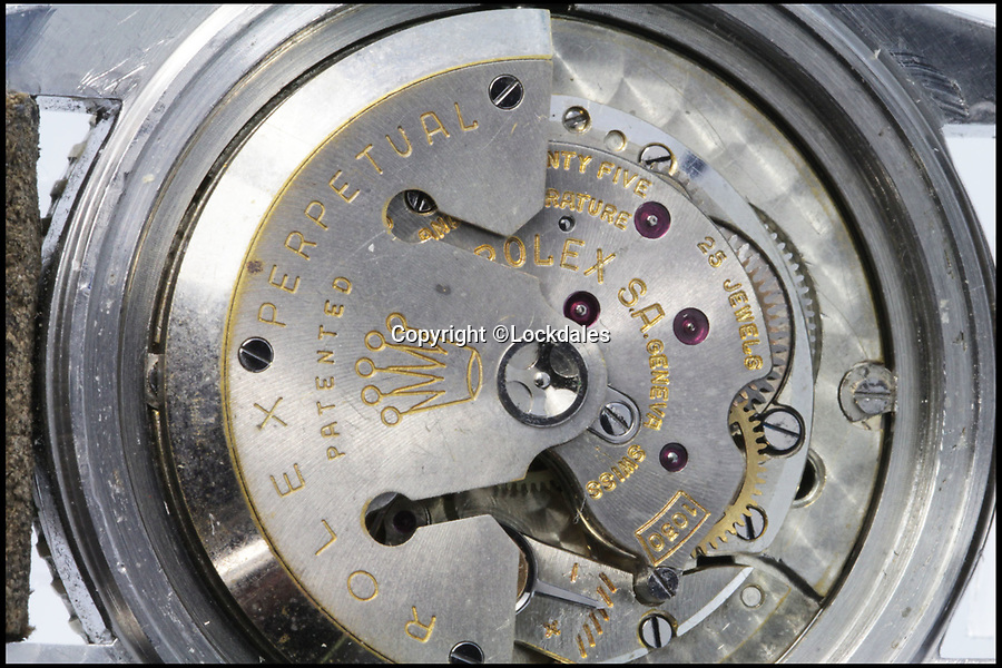 BNPS.co.uk (01202 558833)Pic: Lockdales/BNPS<br /> <br /> Internal movement still works perfectly.<br /> <br /> A watch so battered you can barely tell the time sold for an astonishing £167,000 yesterday.<br /> <br /> Bought new in 1956 for around £100 by a businessman who has now retired, the rather tired looking timepeice shocked auctioneers by selling for over eight times its estimate.<br /> <br /> Despite its battered appearance the incredibly rare Rolex Submariner 'Big Crown', internal movement is still in perfect working order.<br /> <br /> Despite this, the one owner watch sparked a bidding war when it went under the hammer at Lockdales in Martlesham, Suffolk.<br /> <br /> Auctioneer Chris Elmy said the superficial damage to the watch may have attracted collectors as it proved it had not been refurbished and contained all its original parts.