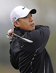 JEJU, SOUTH KOREA - APRIL 22:  Anthony Kim of USA tees off on the 14th hole during the Round One of the Ballantine's Championship at Pinx Golf Club on April 22, 2010 in Jeju island, South Korea. Photo by Victor Fraile / The Power of Sport Images