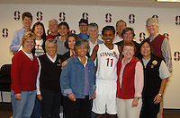 13 November 2005: Candice Wiggins during Stanford's 92-65 win over Love and Basketball at Maples Pavilion in Stanford, CA.