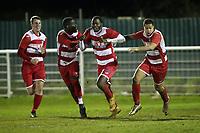 Ilford celebrate their second goal during Redbridge vs Ilford, Essex Senior League Football at Oakside Stadium on 10th January 2020