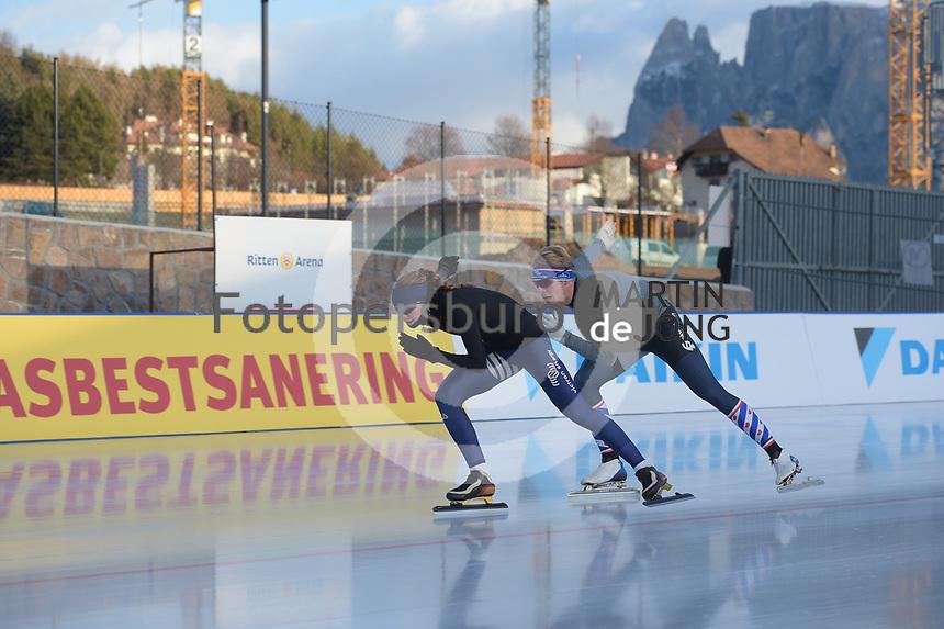 SPEED SKATING: COLLALBO: Arena Ritten, 10-01-2019, ISU European Speed Skating Championships, Jort Boomhouwer (Gewest Fryslân), Melissa Wijfje (NED), ©photo Martin de Jong