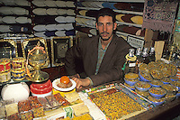 Fez, Morocco - Vendor of Incense and Shoes.