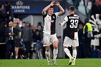 Matthijs de Ligt and Federico Bernardeschi of Juventus celebrate at the end of the match <br /> Torino 22/10/2019 Juventus Stadium <br /> Football Champions League 2019//2020 <br /> Group Stage Group D <br /> Juventus - Lokomotiv Moscow  <br /> Photo Andrea Staccioli / Insidefoto