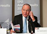Brussels-Belgium - March 06, 2014 -- Benoît (Benoit) BATTISTELLI, President of the European Patent Office (EPO) presenting EPO's results for year 2013 -- Photo: © HorstWagner.eu