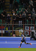 Calcio, Coppa Italia: semifinale di ritorno Inter vs Juventus. Milano, stadio San Siro, 2 marzo 2016. <br /> FC Inter&rsquo;s Marcelo Brozovic celebrates after scoring during the Italian Cup second leg semifinal football match between Inter and Juventus at Milan's San Siro stadium, 2 March 2016.<br /> UPDATE IMAGES PRESS/Isabella Bonotto