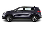 Car driver side profile view of a 2019 KIA Sportage More 5 Door SUV