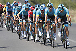 The peloton led by Astana Pro Team during Stage 6 of La Vuelta 2019 running 198.9km from Mora de Rubielos to Ares del Maestrat, Spain. 29th August 2019.<br /> Picture: Luis Angel Gomez/Photogomezsport | Cyclefile<br /> <br /> All photos usage must carry mandatory copyright credit (© Cyclefile | Luis Angel Gomez/Photogomezsport)