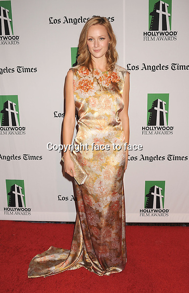 Kerry Bishe attending the 16th Annual Hollywood Film Awards Gala presented by The Los Angeles Times held at The Beverly Hilton Hotel on October 22, 2012 in Beverly Hills, California...Credit: Mayer/face to face - No Rights for USA and Canada -