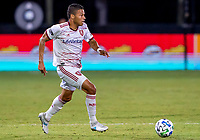 17th July 2020, Orlando, Florida, USA;  Real Salt Lake midfielder Maikel Chang (16) runs with the ball during the MLS Is Back Tournament between the Real Salt Lake versus Minnesota United FC on July 17, 2020 at the ESPN Wide World of Sports, Orlando FL.