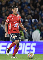 BOGOTA - COLOMBIA -20 -11-2016: Juan D Cabezas jugador del Medellín en acción durante el encuentro entre Millonarios y Independiente Medellín por la fecha 20 de la Liga Aguila II 2016 jugado en el estadio Nemesio Camacho El Campin de la ciudad de Bogota./ Juan D Cabezas player of Medellin in action during the match between Millonarios and Independiente Medellin for the date 20 of the Liga Aguila II 2016 played at the Nemesio Camacho El Campin Stadium in Bogota city. Photo: VizzorImage / Gabriel Aponte / Staff.