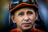 ARCADIA, CA - DECEMBER 26: Jockey Mike Smith at Santa Anita Park on December 26, 2017 in Arcadia, California. (Photo by Alex Evers/Eclipse Sportswire/Getty Images)