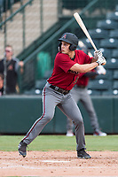 AZL Diamondbacks right fielder William Gorman (36) at bat during an Arizona League game against the AZL Angels at Tempe Diablo Stadium on July 16, 2018 in Tempe, Arizona. The AZL Diamondbacks defeated the AZL Angels by a score of 4-3. (Zachary Lucy/Four Seam Images)