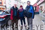 Micheal Mac Guidhir (Clochan Dubh), Anna Ní Eigeartaigh and Seamus Ó Ceilleachair (Dingle) at the start of the Glens to Cloghane walk as part of the Storm Festival on Sunday.